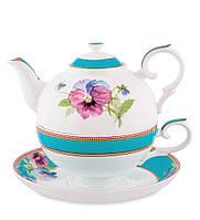 Чайный набор из костяного фарфора ''Виола'' (Viola Pavone) JK-119, фото 1