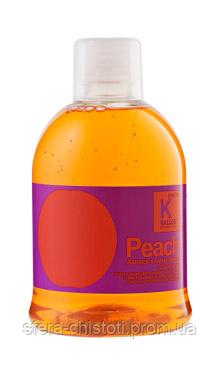 Kallos Peach Шампунь питательный для сухих и ломких волос, 1000 мл