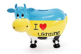 """Копилка коровка """"I love Ukraine"""", 21.5см, 504-138"""
