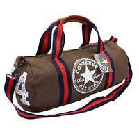 Спортивная сумка-бочонок Converse All Star Конверс Коричневый