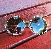 Женские солнцезащитные очки Dior бабочка со стразами