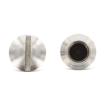 Гайка–муфта М5, з прямим шліцом (Art. 9061) з нержавіючої сталі