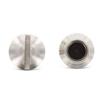 Гайка–муфта М5, з прямим шліцом (Art. 9061) з нержавіючої сталі, фото 2