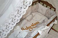 Гнездышко «Дамаск» с ручками и съемным матрасиком на молнии Baby-Sleep
