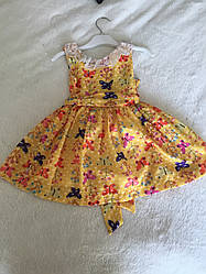 Пышное платье для девочки без рукавов на лето
