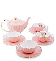 """Чайный сервиз на 4 перс.""""Согно Росса"""" розовый AS-32"""