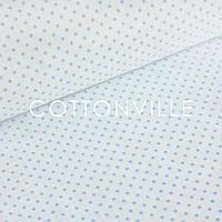 ✁ Отрезы бязи Горошки 3 мм голубые