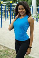Спортивная женская майка-боксерка Blue , фото 1