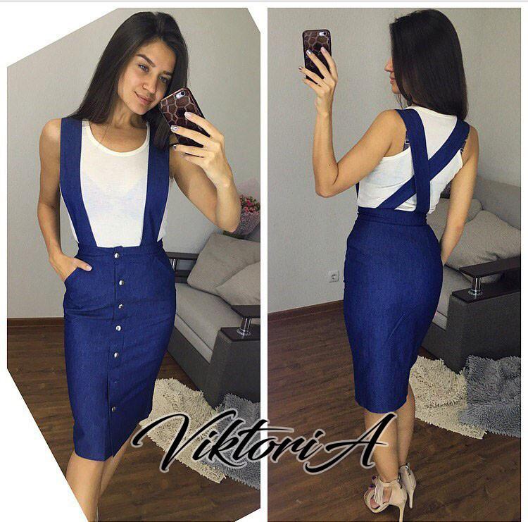 94068c43f0d Джинсовая юбка с лямками (№ 035). - Lutter одежда для всей семьи в