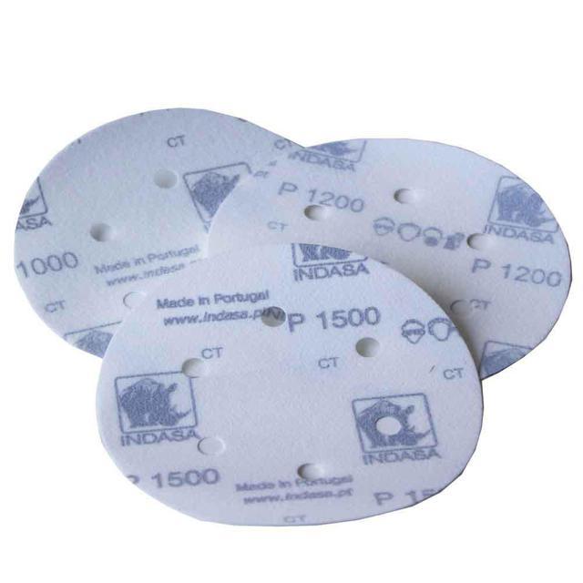 Абразивный диск INDASA RHYNOGRIP FILM LINE на пленке, D150mm, 6 отверстий