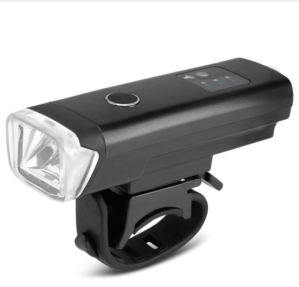 ВЕЛОСИПЕДНАЯ ФАРА  Waterproof Smart Induction Bike Front Handlebar Light (BLACK)