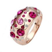 Кольцо с красными камнями  K000325 D17.0