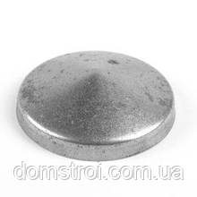 Круглая металлическая заглушка 62 мм