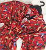 Красный тонкий халатик с рисунком, женская домашняя одежда ТМExclusive., фото 2