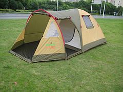Палатка трехместная двухслойная Green Camp X-1504
