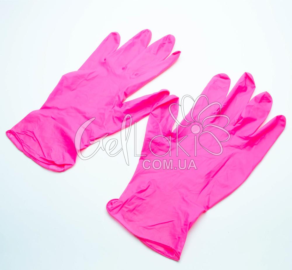 Перчатки нитриловые без талька Safe-touch Розовые (M)