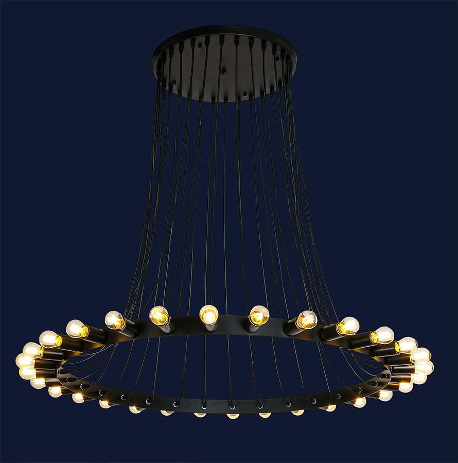 Большая люстра лофт на 30 ламп 761YDT30-30 BK