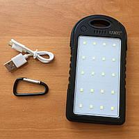 Power Bank Solar UKC 21 800 mAh Солнечное зарядное повер банк внешний аккумулятор +фонарик