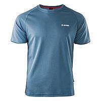 Спортивная мужская футболка Hi-Tec Goggi BLUE MIRAGE/FLAME SCARLET/WHITE