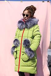 Зимнее пальто с капюшоном  на девочку Мелитта нью вери (Nui Very)