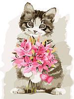 """Картина по номерам """"Цветы в подарок"""" 30*40см"""
