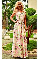 Женское нарядное длинное летнее платье