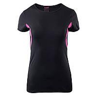 Спортивная женская футболка Hi-Tec Lady Doren BLACK/BEETROOT PURPLE