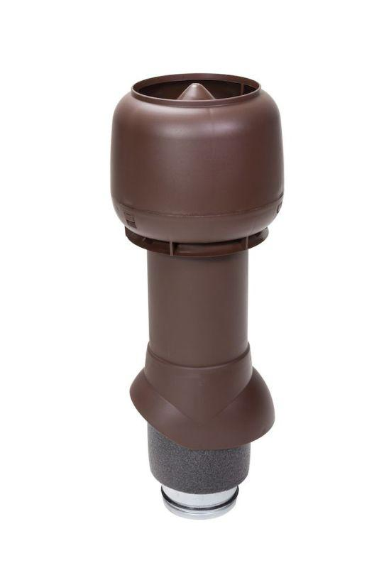 Вентиляционный выход VILPE® 125/ИЗ/500 изолированный. Цвет: Коричневый