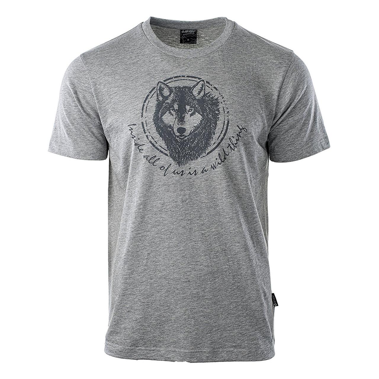 Мужская футболка с принтом Hi-Tec Lupus GRAY
