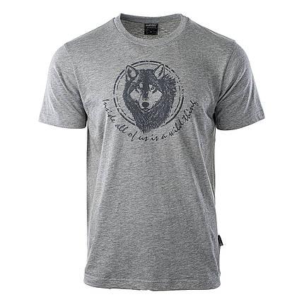 Мужская футболка с принтом Hi-Tec Lupus GRAY, фото 2