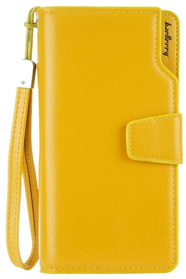 Женское кожаное портмоне Baellerry N1503 - желтый, брендовый кошелек, с  доставкой по Киеву и Украине e1b3aec2721