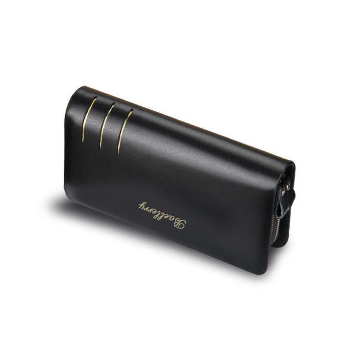 233c2c312971 ✅ Мужской кожаный кошелек (портмоне-клатч) Baellerry S6111 Чёрный ...