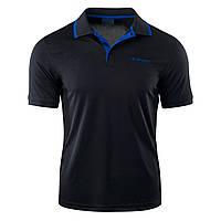 Мужская футболка поло Hi-Tec Site BLACK/MONACO BLUE