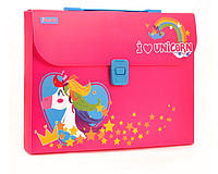 Портфель пластиковый MAGIC UNICORN для детей. Детский портфель для дошкольников..