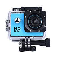 Спортивная экшн видеокамера с креплением на шлем Sports Full HD 1080p Серебро 1