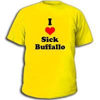 """Футболка с надписью """"l like sick buffallo"""""""