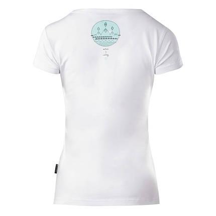 Спортивная женская футболка Hi-Tec Lady Ebene WHITE, фото 2