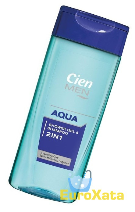 Шампунь-гель для душа CIEN men 2in1 Aqua (300 мл) Германия
