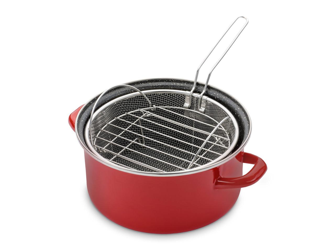 Кастрюля Delimano Cook-n-Bake с корзинкой для жарки и решеткой