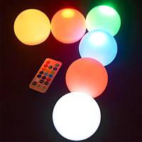 Набор водонепроницаемых светодиодных светильников ORB08W на батарейках с пультом ДУ