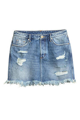 Юбка H&M Distressed Denim Skirt