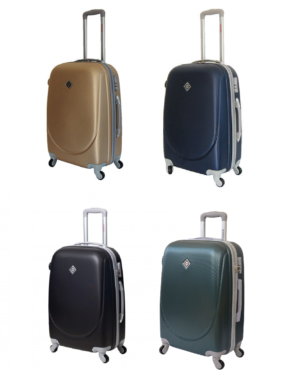 ... Дорожный чемодан на колесах Bonro Smile для ручной клади Мини, ... a015a12bb2e