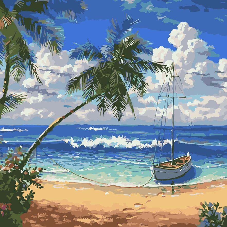 """Картина по номерам """"Райский остров"""" 40*40см"""