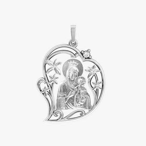Ладанка серебряная Богородица ЛП-62
