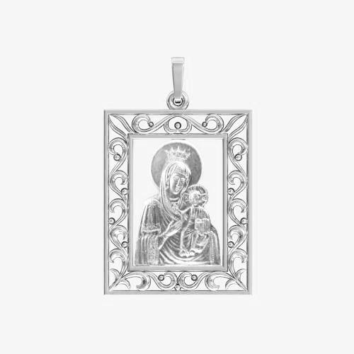 Ладанка серебряная Богородица ЛП-63