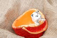 Садовая фигура Кашпо котик