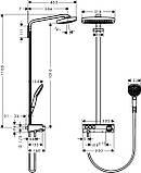 Душевая система Hansgrohe 27127000 Raindance Select E Air 3jet 300 Showerpipe, фото 2