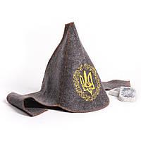 """Банная шапка Luxyart """"Буденовка классик"""", натуральный войлок, серый (LA-059)"""
