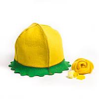 Банная шапка Одуванчик цветной натуральный войлок, Saunapro