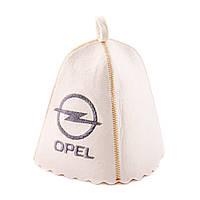 "Банная шапка Luxyart ""Opel"", натуральный войлок, белый (LA-190)"